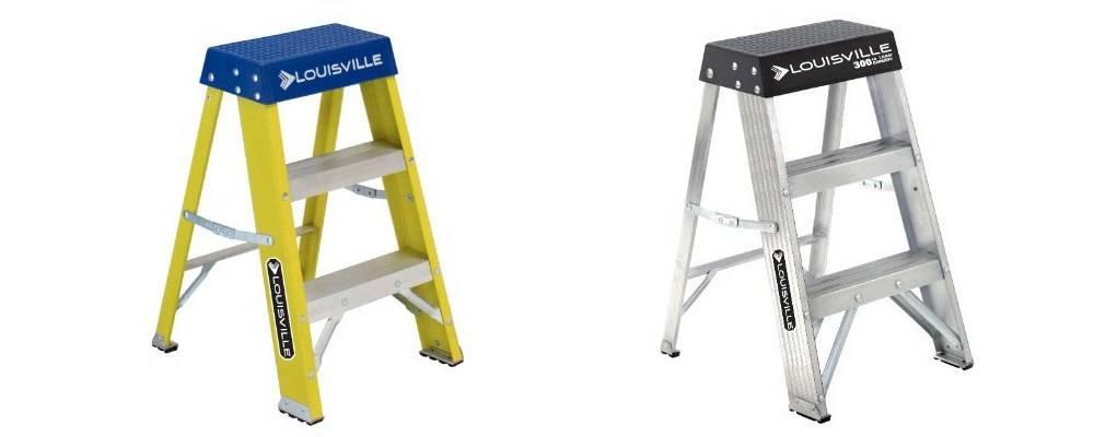 Aluminum Step Stool & Fiberglass Step Stool
