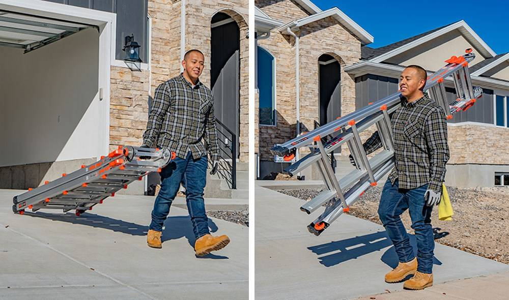 Little Giant 15426 ladder has wheels, and can be quickly folded