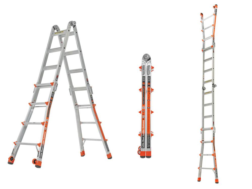 Little Giant Ladder System 12017 has a slim 9-inch profile at one-fourth its maximum size
