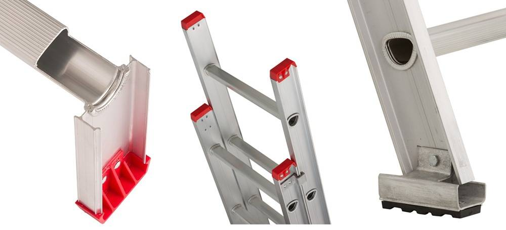 Louisville Ladder L-2321-16 comes with the Mar-Resistant Feet and D-Shaped Rungs