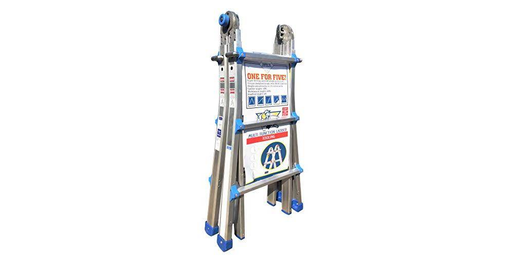 TOPRUNG TSA-U13 ladder is compact and easy to store and move