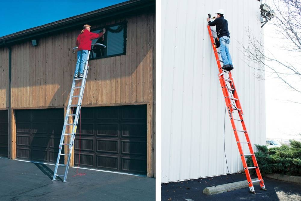The average heights of extension ladders are between 16 and 24 feet