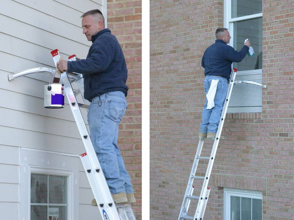 Werner D1120-2 extension ladder has a high weight capacity of up to 200 pounds