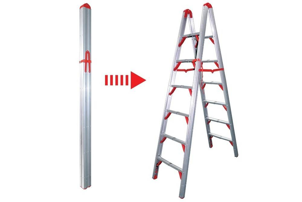 When the Telesteps 700FLD ladder is fully folded, it is the size of four by four posts