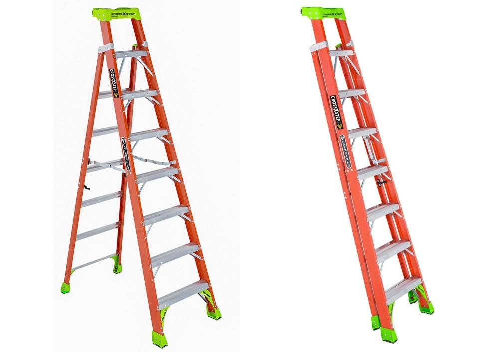 Some stepladders come with a folding mechanism