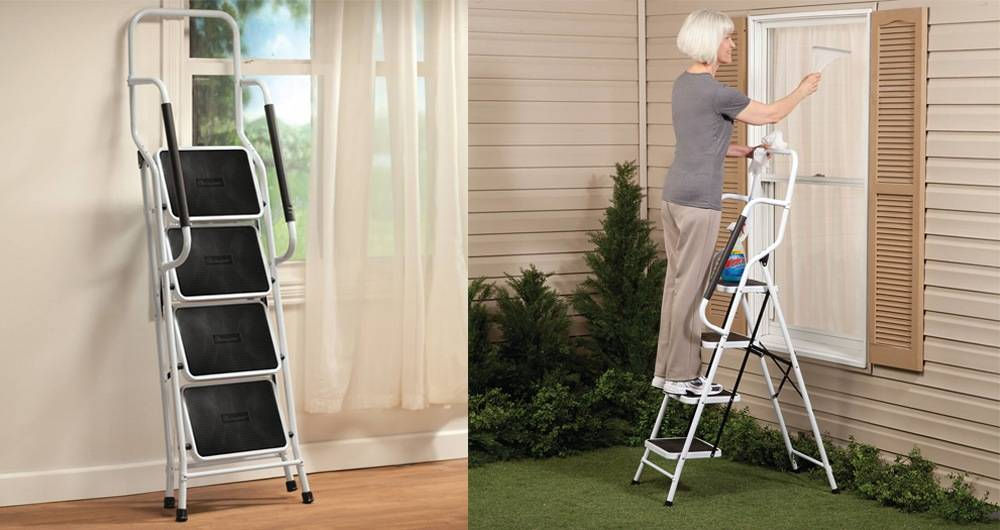 Stepladders come with a safety handle