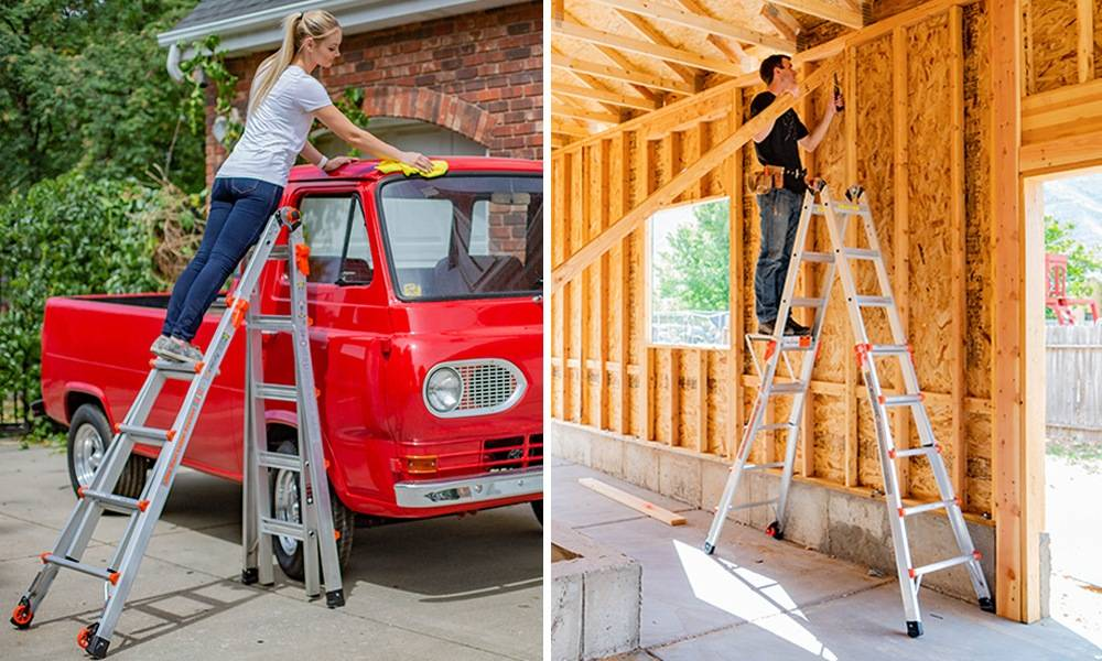 When on a ladder, you should always climb facing the ladder and always maintain a three-point stance