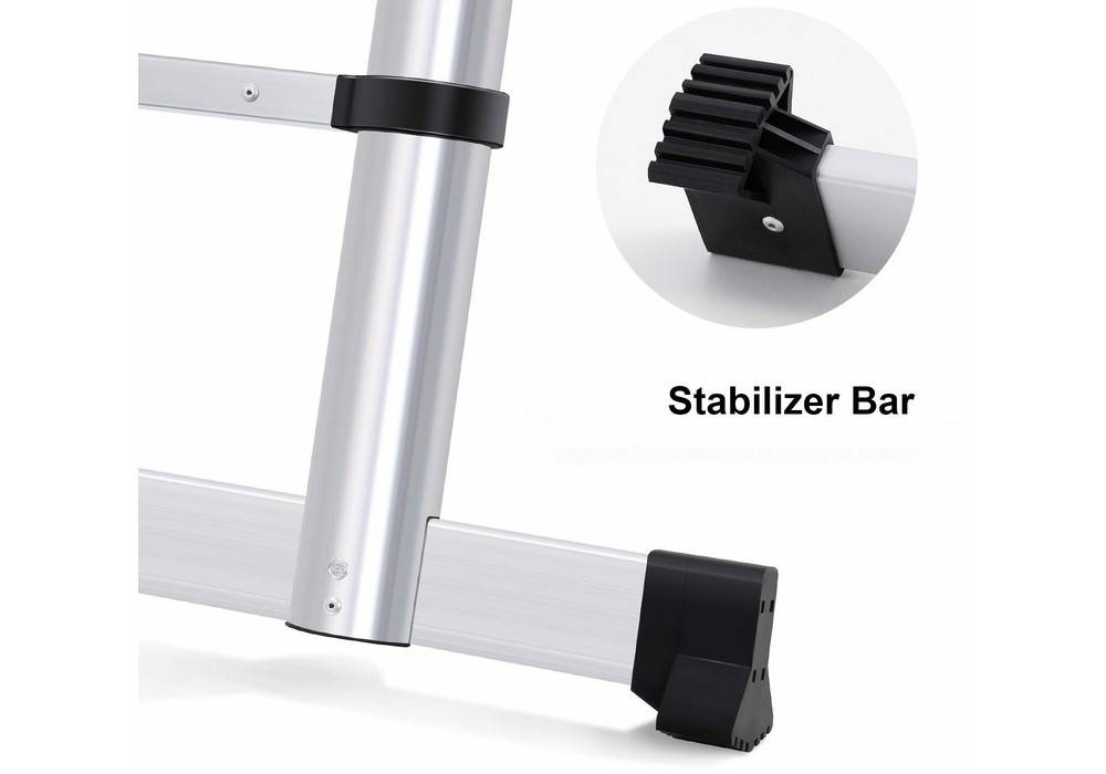 WolfWise VILP230011EPE laddercomes with a stabilizer bar