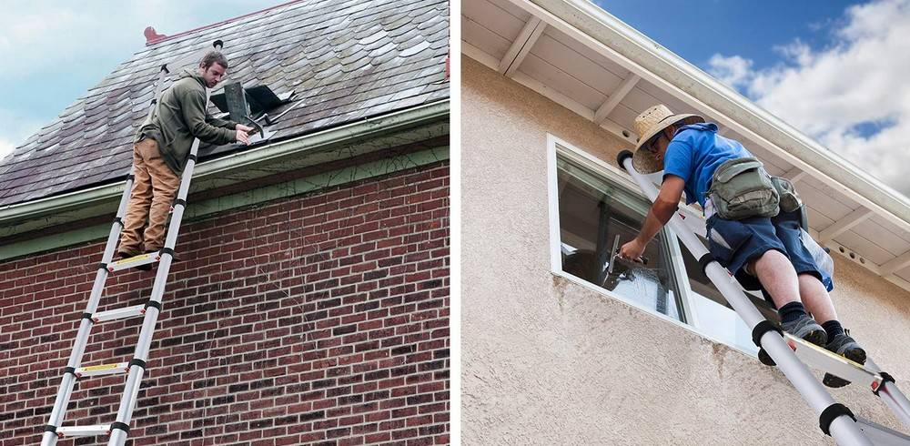 You need the best telescoping ladder that extends far enough to reach the roof