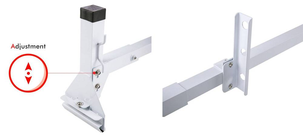 AA Products Inc. AX27-T AA-Racks have the height adjustable middle bar