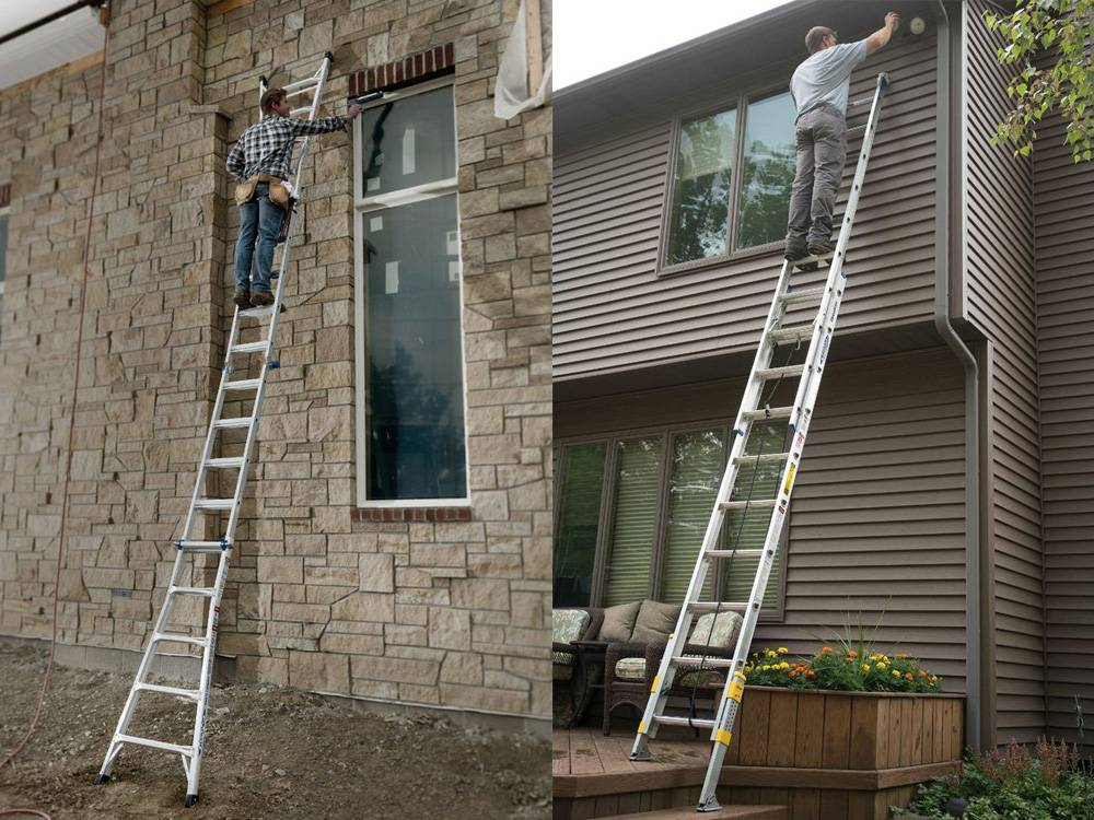 Aluminum ladders are ideal for jobs that require you to reach high heights