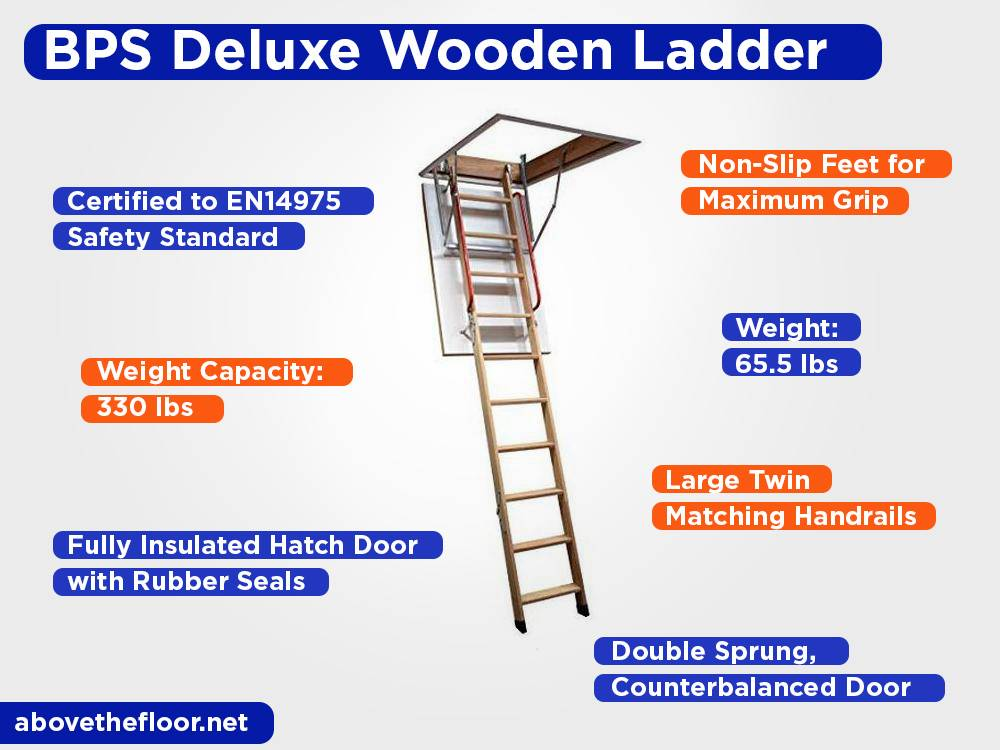 BPS Deluxe Wooden Ladder Review, Pros and Cons