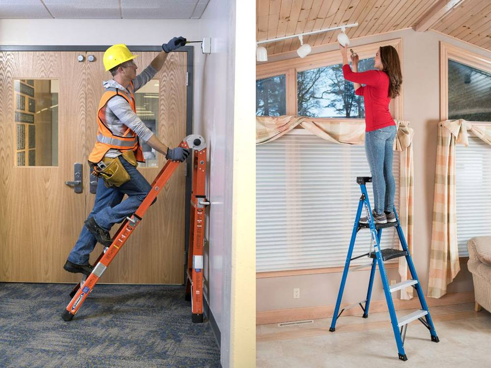 Fiberglass Ladder is ideal for small jobs