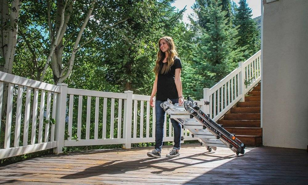 Little Giant Quantum ladders has a foldable system