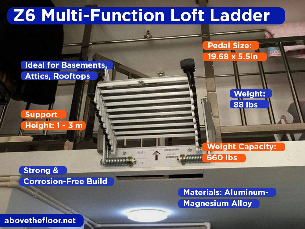 Z6 Multi-Function Loft Ladder Review, Pros and Cons