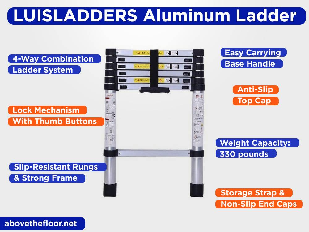 LUISLADDERS Aluminum Telescoping Ladder Review, Pros and Cons