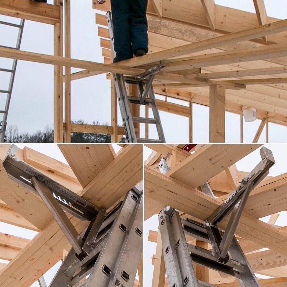 Two or three ladder jack scaffold system
